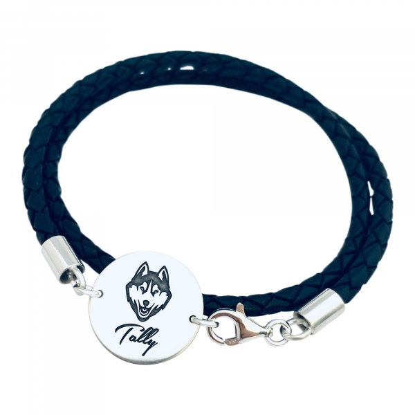 Bratara gravata simbol catel, pentru barbatiMy Favourite Pet 1