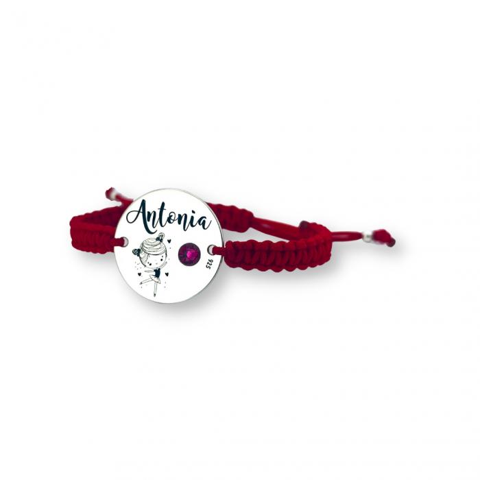 Bratara gravata copii, banutargint copii - Nume & Simbol personalizat [0]