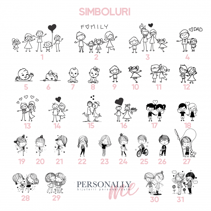 Bratara gravata copii, banutargint copii - Nume & Simbol personalizat [2]