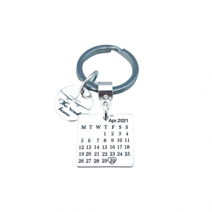 Brelocuri personalizate argint Calendar The Road Home [1]