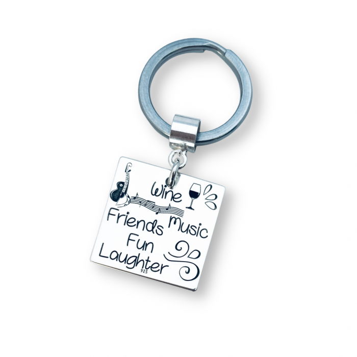 Breloc argint personalizat mesaj old friends [0]