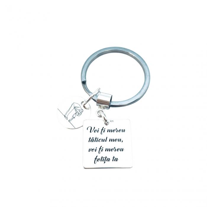 Breloc personalizat argint Un tatic iubit Personally ME [1]