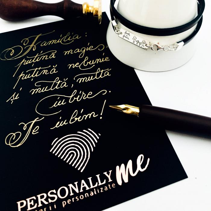 Felicitare caligrafiată mesaj special cadou familie 0