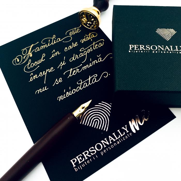 Felicitare caligrafiata mesaj special cadou familie 0