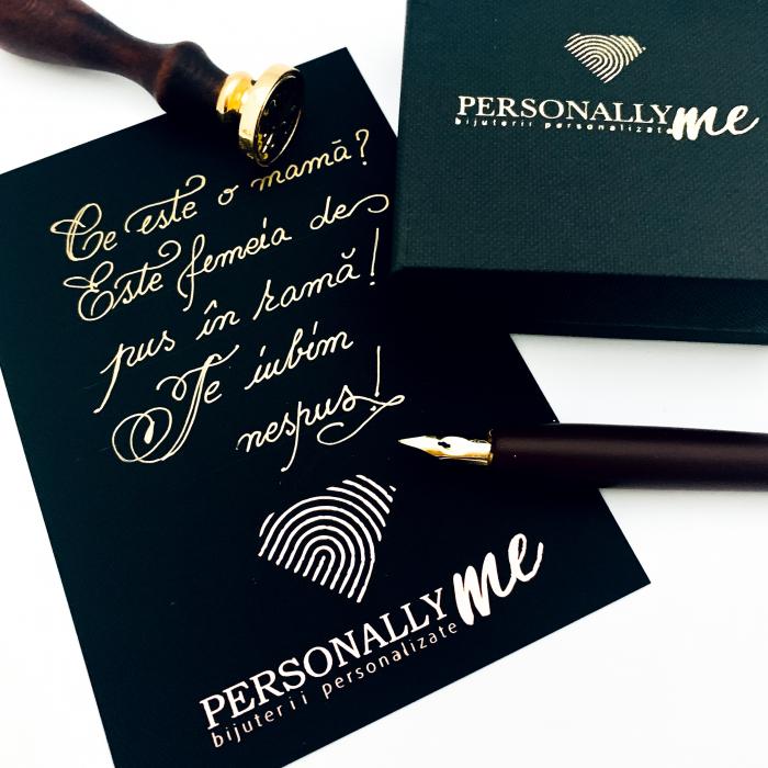 Felicitare caligrafiata mesaj special cadou sarbatori fericite 17