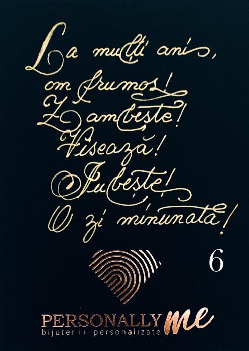 Felicitare caligrafiata mesaj special cadou zambeste [7]