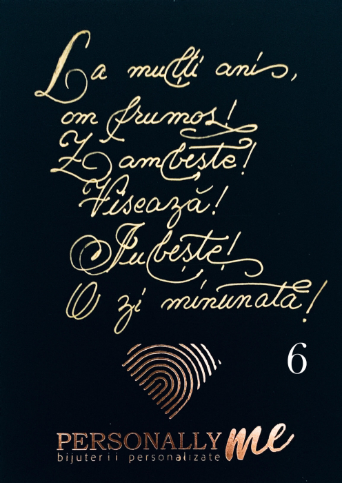 Felicitare caligrafiata mesaj special cadou la multi ani [7]
