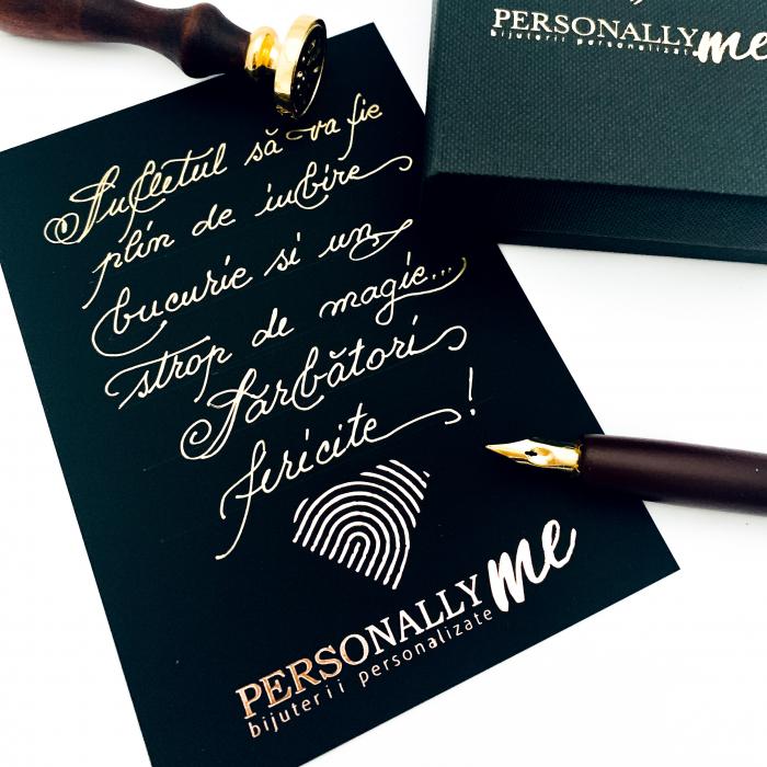 Felicitare caligrafiata mesaj special cadou sarbatori fericite 15