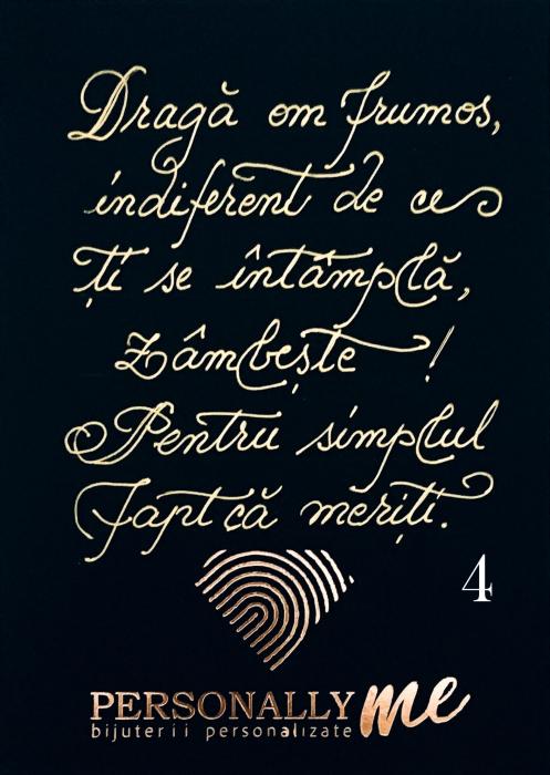 Felicitare caligrafiata mesaj special cadou sarbatori fericite 5