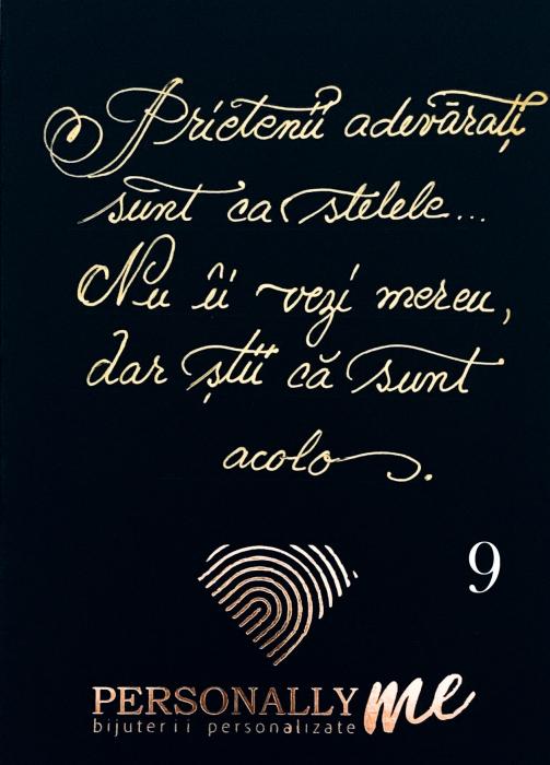 Felicitare caligrafiata mesaj special cadou zambeste [10]