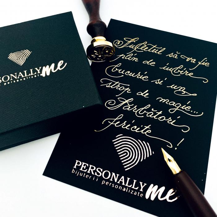 Felicitare caligrafiata mesaj special cadou sarbatori fericite 0