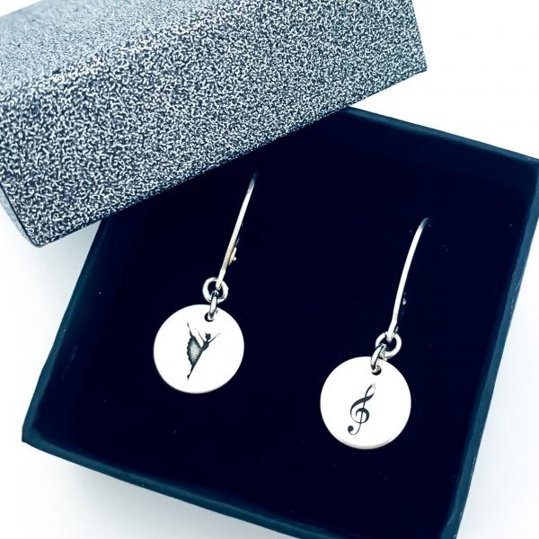 Cercei argint banut personalizati cu simboluri 1
