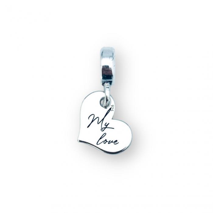 Charm argint inimioara personalizat My Love - Personally ME [0]