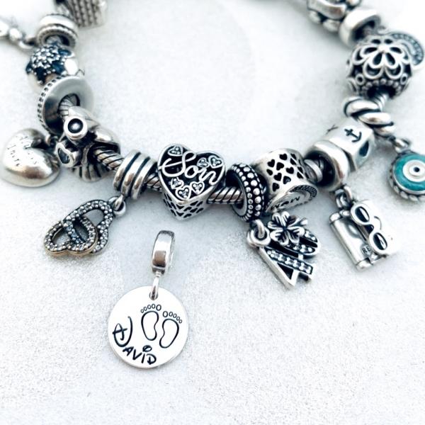Charm argint personalizat argint bratara cadou nasa Blessed Godmother 3