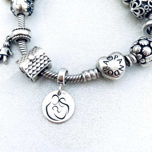 Charm argint personalizat argint bratara cadou nasa Blessed Godmother 4