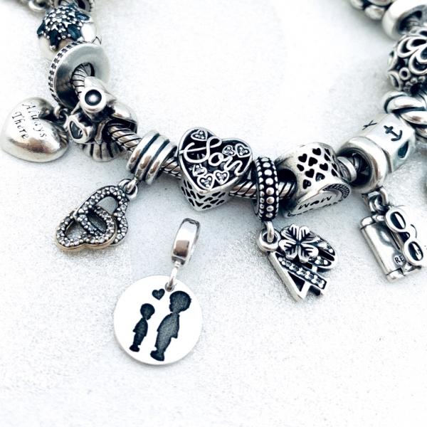 Charm argint personalizat argint bratara cadou nasa Blessed Godmother 2