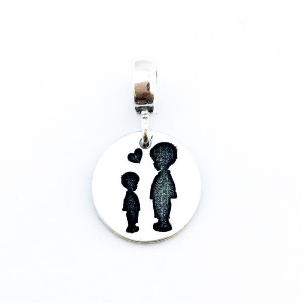 Charm banut argint personalizat Siluete Copii 0