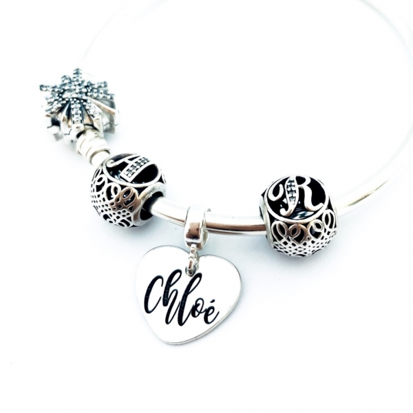 Charm argint personalizat Sisters Forever 3