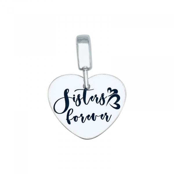 Charm argint personalizat Sisters Forever 0