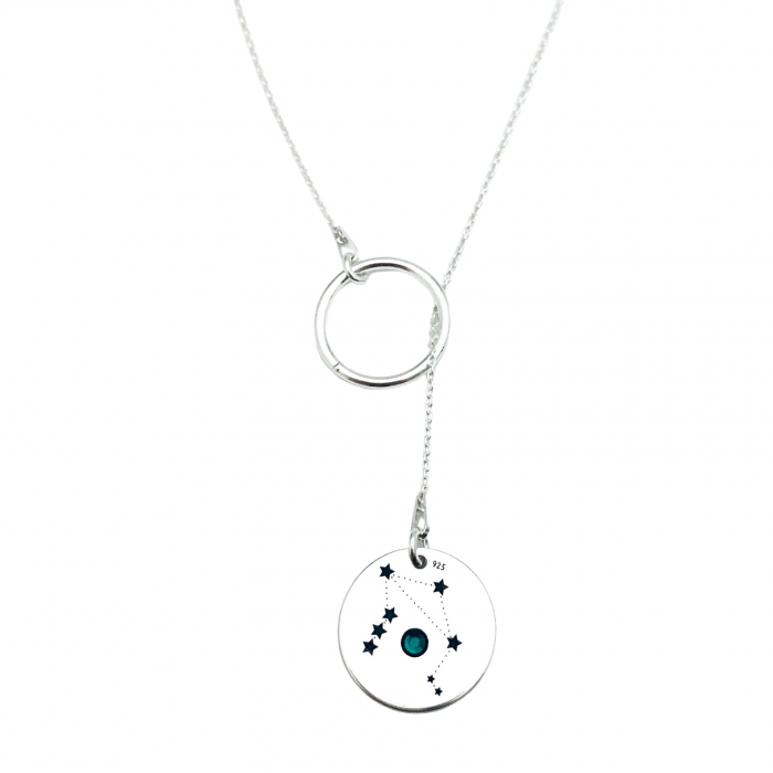 Colier argint asimetric gravat Constelatii cristal Swarovski Personally ME [2]