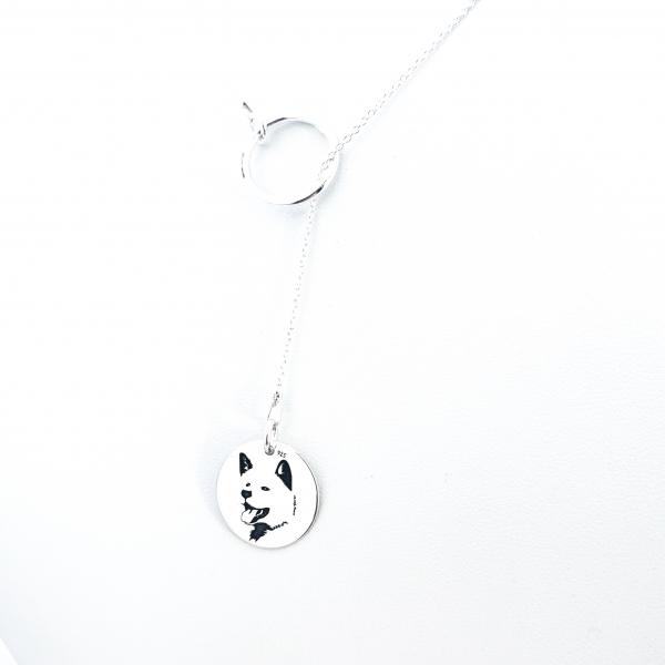 Colier argint asimetric gravat Pure Love 1