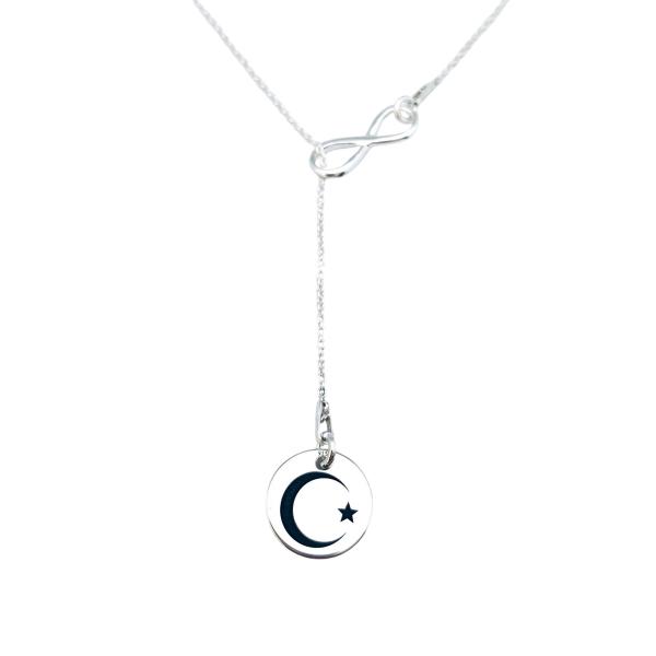 Lantisor argint dama personalizat charm infinit 0