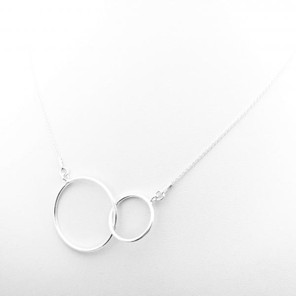 Colier argint cu pandantive cerc Connected 0