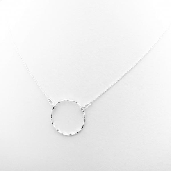 Colier argint cu pandantiv cerc Simplicity 0