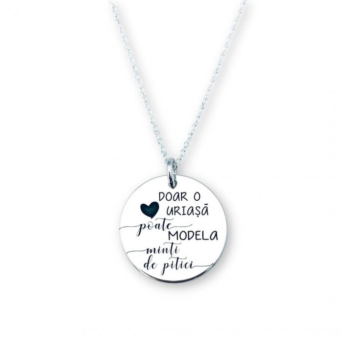 Colier argint personalizat cu Cea mai iubita invatatoare [0]