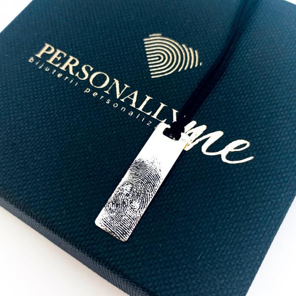 Colier argint personalizat amprenta 3