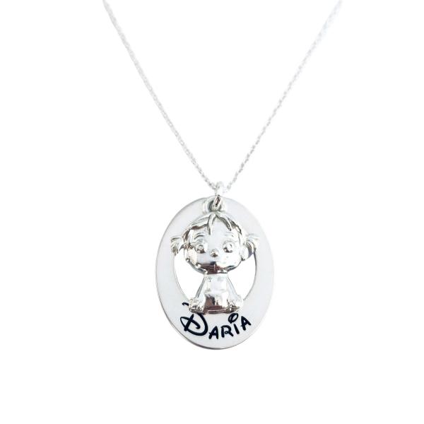 Colier argint Personalizat Charm Fetita sau baietel 0