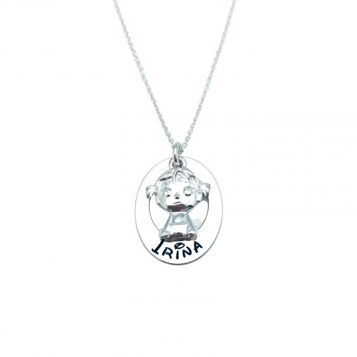 Colier argint Personalizat Charm Fetita sau baietel Personally ME 1
