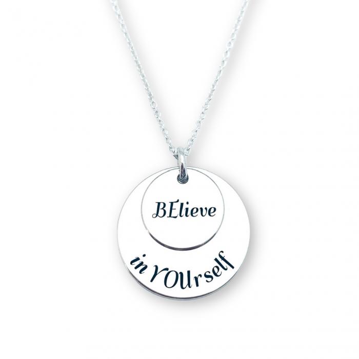 Lantisor argint personalizat Believe in Yourself - Personally ME [0]