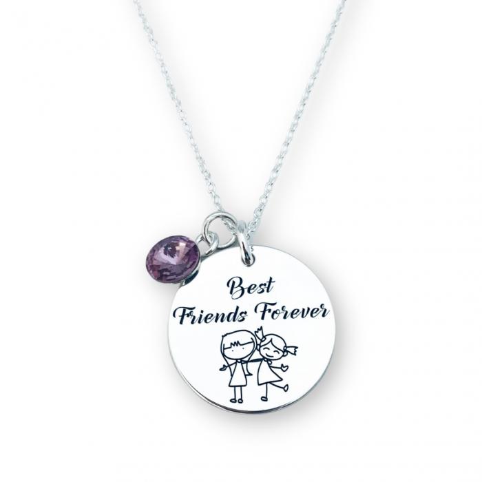 Colier de argint personalizat Best Friends Forever - Personally ME [0]