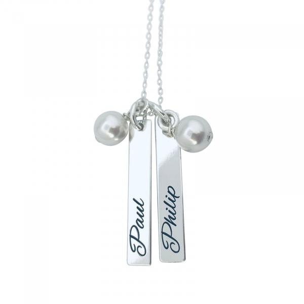 Colier cu placuta personalizat argint 0