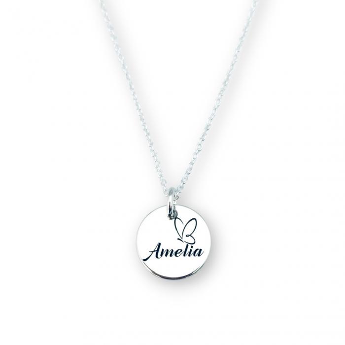 Lantic personalizat din argint cu simbol si nume [0]