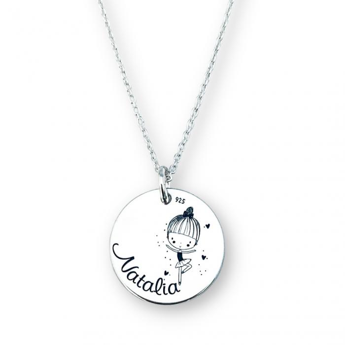 Colier personalizat argint cuNume & Simbol [0]