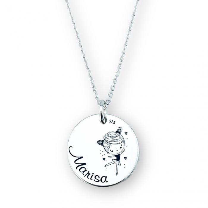Colier personalizat argint cuNume & Simbol [1]
