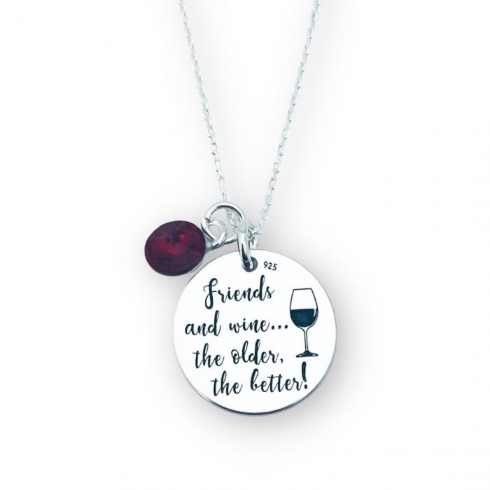 Colier de argint personalizat Friends and Wine - Personally ME [0]