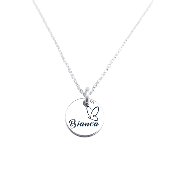 Lantic personalizat din argint cu simbol Happy Family 1