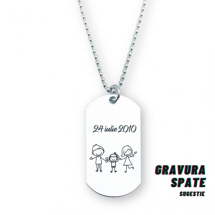 Colier placuta Army argint personalizat pentru barbati Personally ME [1]