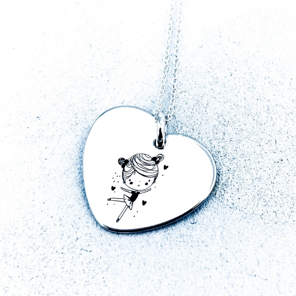 Colier Argint Inimioara Personalizat 2