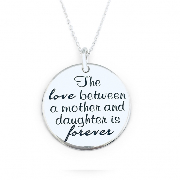Lantisor mama-fiica personalizat din argint Mother & Daughter Love 0
