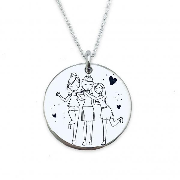Colier personalizat din argint cadou surori 0