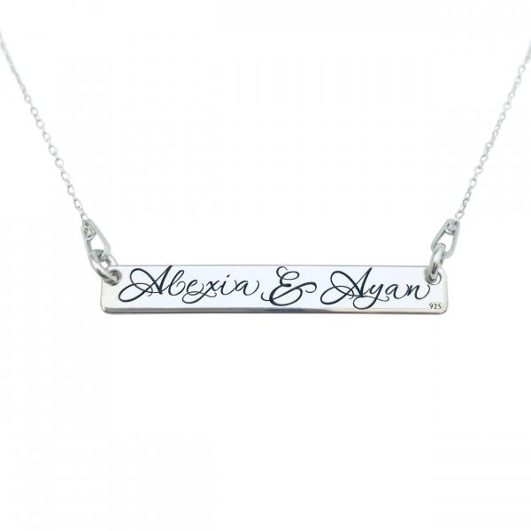 Lantisor argint gravat cu mesaje Family is forever 0