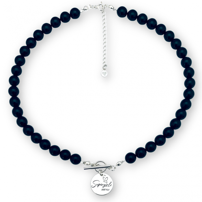 Colier cu perle Swarovski si pandantiv argint - Personally ME [1]
