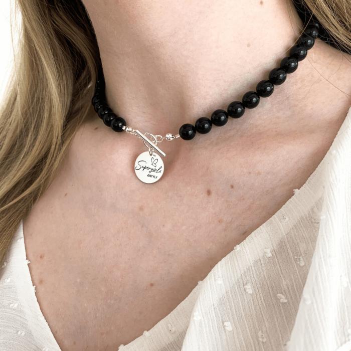 Colier cu perle Swarovski si pandantiv argint - Personally ME [0]