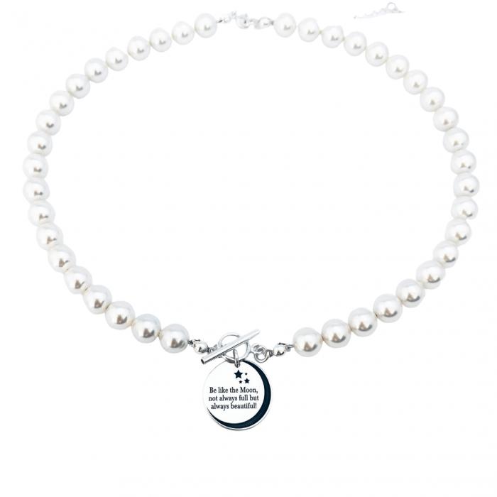 Colier cu perle Swarovski si pandantiv argint - Personally ME 1