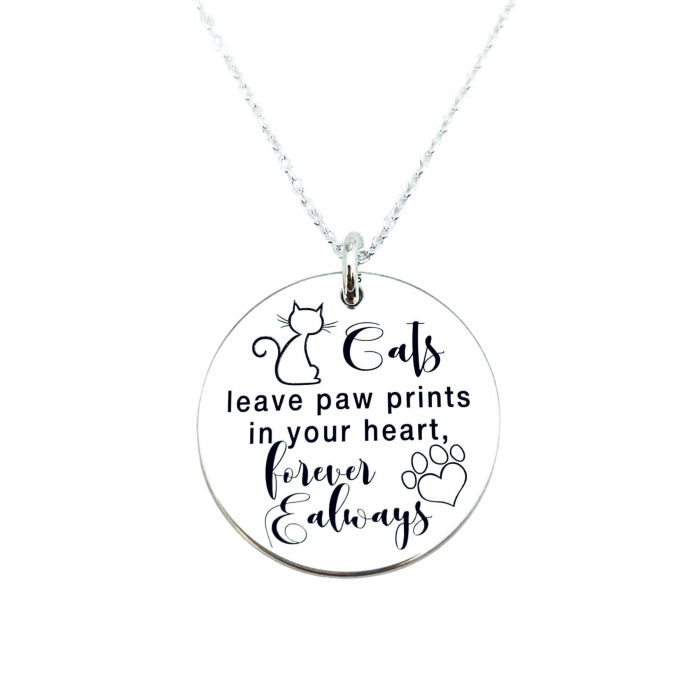 Lantisor personalizat argint gravat Cats Lover 0