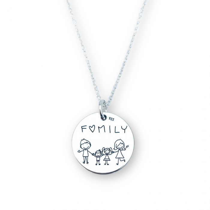 Colier argint gravat Family - Personally ME [0]